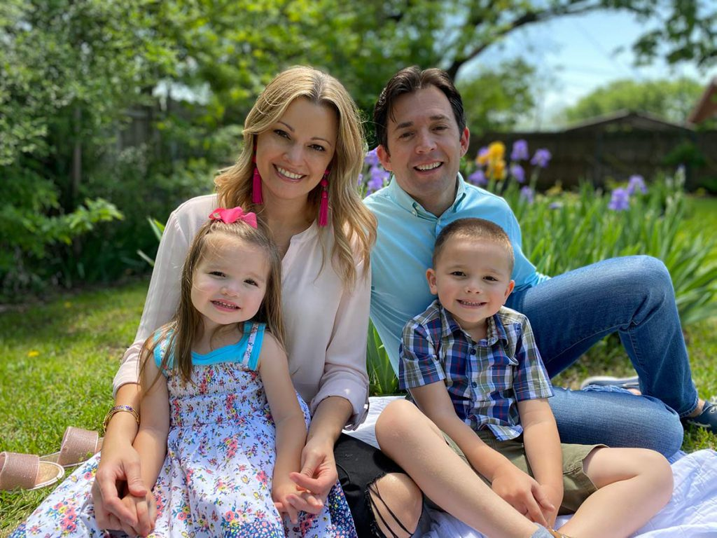 Dustin and Mandy Martin family